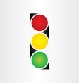 semaphore abstract traffic sign symbol vector image