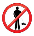 Symbol No Urinating Isolated vector image