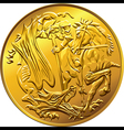British money gold coin sovereign vector image