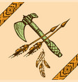 native american indian tomahawks vector image