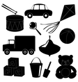Set of toys silhouettes 1 vector image vector image