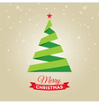 christmas tree gold card vector image