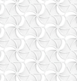 3D white hexagonal grid with wavy stripes vector image