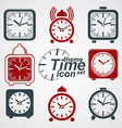 Gquared 3d alarm clocks with clock bell decorative vector image