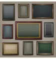 Wooden frames on dark vector image vector image