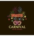 Brazilian Carnival logo and emblem vector image
