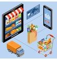 Internet store vector image