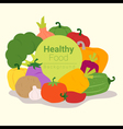 Healthy food background with vegetable 3 vector image