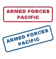 Armed Forces Pacific Rubber Stamps vector image