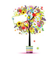 Beautiful summer tree in pot for your design vector image