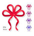 bow set isolated colors of present bows vector image