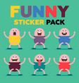 funny sticker pack vector image