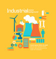 industrial factory design yellow background vector image