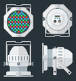 LED PAR professional stage lighting projector vector image