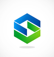 shape S geometry abstract logo vector image