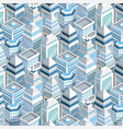 city buildings seamless pattern vector image