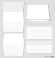 White paper and envelopes vector image vector image