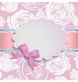 Beautiful card with a bow vector image
