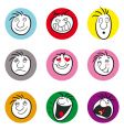face expressions vector image vector image