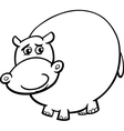 hippopotamus cartoon coloring page vector image