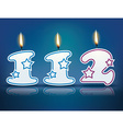 Birthday candle number 112 vector image