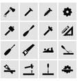 black carpentry icon set vector image