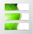 Set of banner wave design vector image