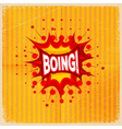 Cartoon blast BOING vector image