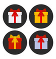 colorful gift boxes icons set vector image