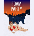 colorful open air party poster vector image