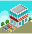 isometric supermarket vector image