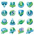large set of logos guarantees vector image