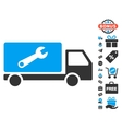 Service Car Icon With Free Bonus vector image