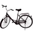 Old ladies bike vector image vector image