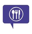 cutlery menu restaurant icon vector image vector image
