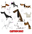 Dogs cartoon set vector image