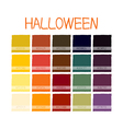 Halloween Colors Tone with Code vector image