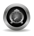Metal alarm clock button vector image