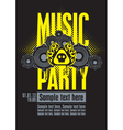 musical party vector image vector image
