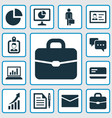 trade icons set collection of increasing id vector image