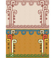 Aztec background two variants vector image vector image