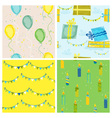 Background Birthday Baby Bear vector image vector image