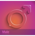 Male sign glass icon vector image