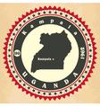 Vintage label-sticker cards of Uganda vector image