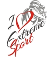 I love extreme sport Paintball player - vector image vector image