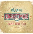 vintage christmas poster vector image vector image