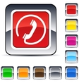 call square button vector image vector image