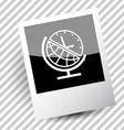 globe and clock vector image