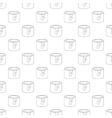 Paint container pattern seamless vector image