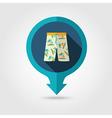 Men Beach Shorts pin map icon Summer Vacation vector image